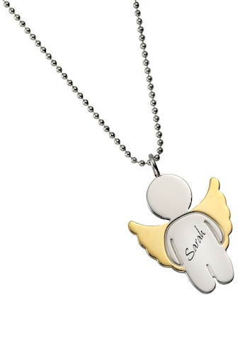 Firetti Kette mit Anhänger »Engel mit Gravur, massiv, teilw. IP-beschichtet« kaufen