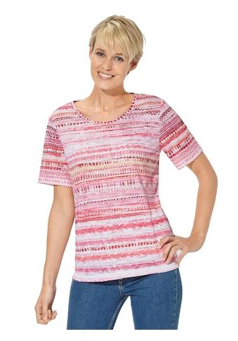 Casual Looks Shirt mit zartem Ausbrenner - Muster kaufen