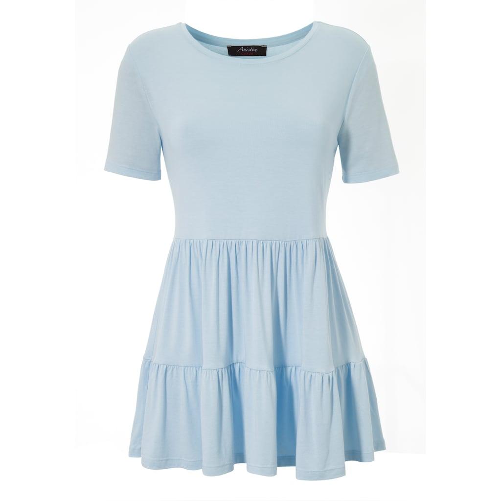 Aniston CASUAL T-Shirt, mit Volant am Saum - NEUE KOLLEKTION