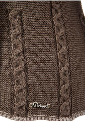 Turi Landhaus Trachtenstrickjacke Damen mit Zopfmuster in taillierter Passform kaufen
