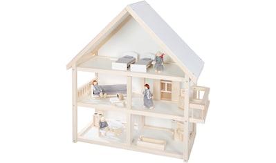 roba® Puppenhaus, mit 4 Puppen und 24 Einrichtungsteilen kaufen