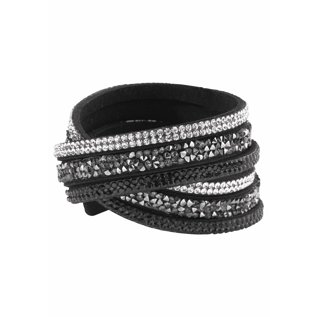 J.Jayz Armband »zum Wickeln«, (1 tlg.), mit Glassteinen