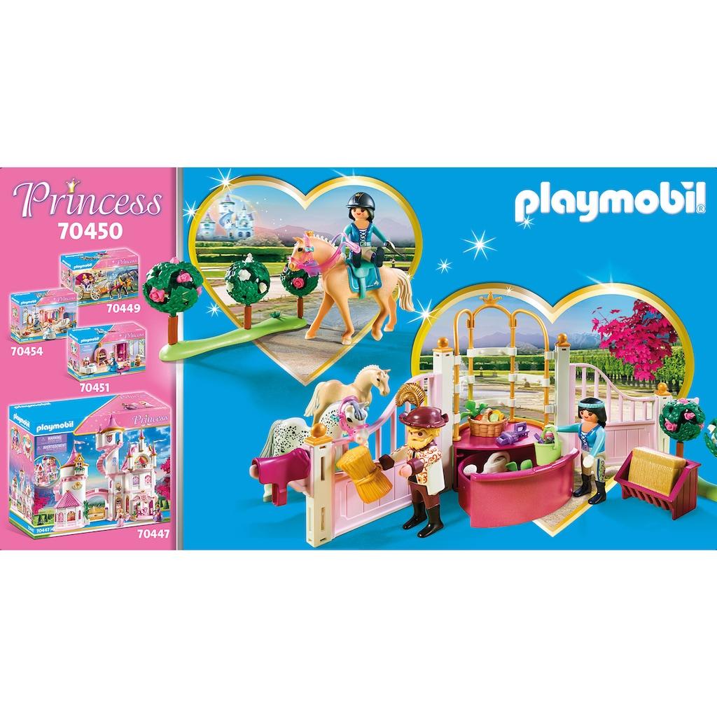Playmobil® Konstruktions-Spielset »Reitunterricht im Pferdestall (70450), Princess«, (185 St.), ; Made in Germany