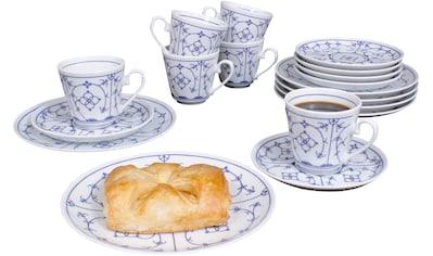 """Eschenbach Kaffeeservice """"Winterling  -  Indischblau"""" (18 - tlg.), Porzellan kaufen"""