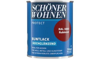 SCHÖNER WOHNEN-Kollektion Lack »Protect Buntlack«, hochglänzend, 750 ml, rubinrot RAL 3003 kaufen