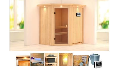 KONIFERA Sauna »Tilda«, 187x169x202 cm, 9 kW Bio - Ofen mit ext. Strg., mit Dachkranz kaufen