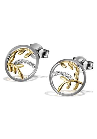 goldmaid Paar Ohrstecker, 925/- Silber 12 weiße Zirkonia kaufen