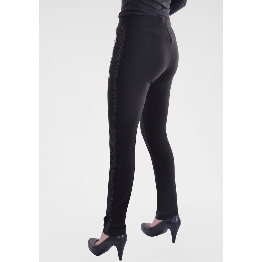 NAVIGAZIONE Stretch-Hose, mit Animalprint