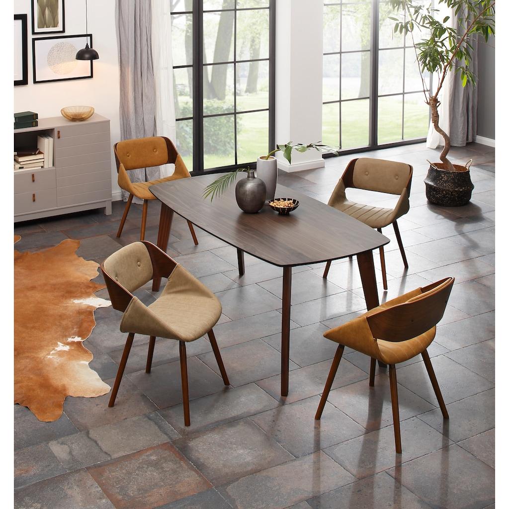 Home affaire Esszimmerstuhl »Langley«, aus schönem Kustleder Bezug, in unterschiedlichen Farbvarianten