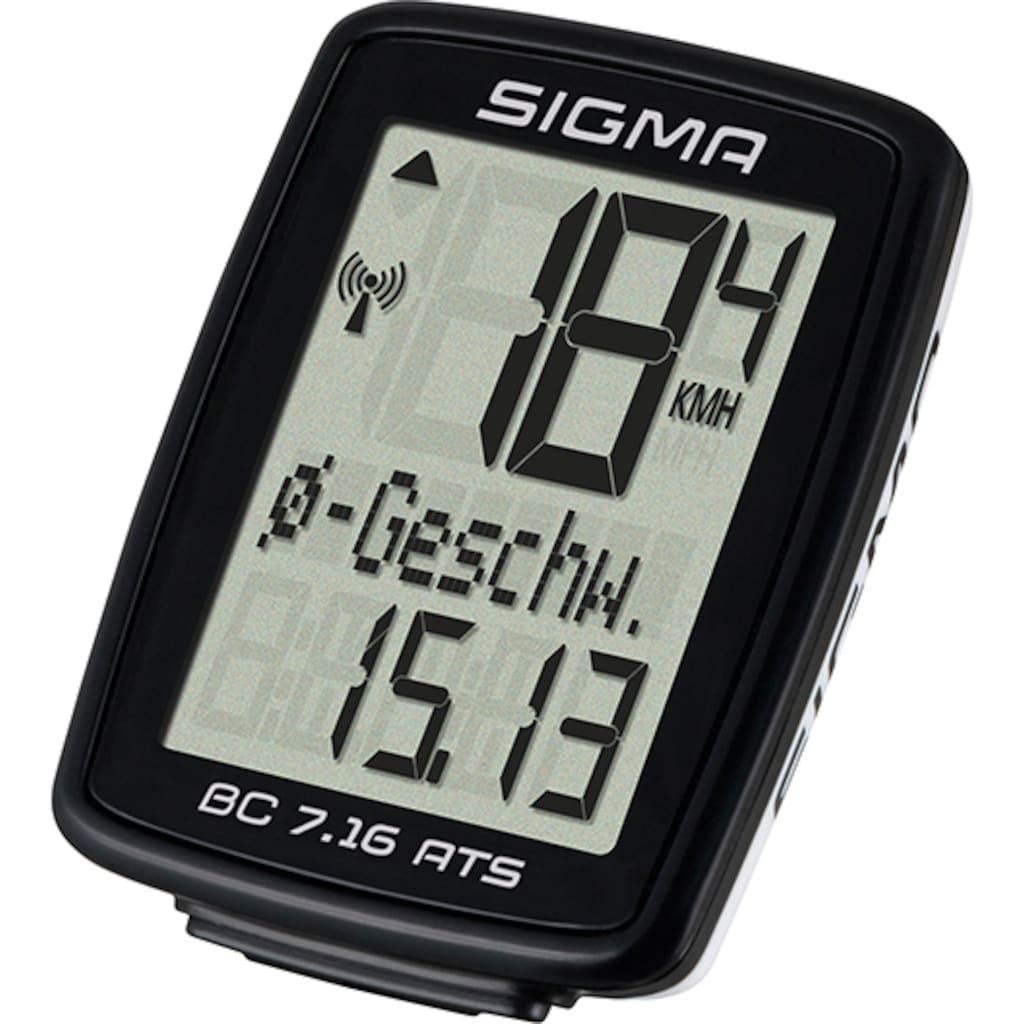 SIGMA SPORT Fahrradcomputer »BC 7.16 ATS«, kabellos