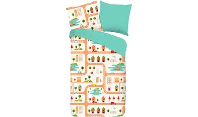 good morning Kinderbettwäsche »Roadmap«, mit Stadt-Motiv kaufen