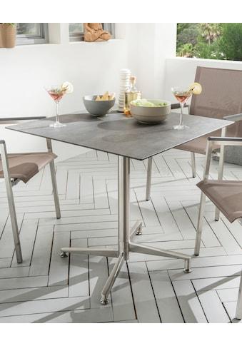 DESTINY Gartentisch »Loft«, Edelstahl/HPL, klappbar, 80x80 cm kaufen