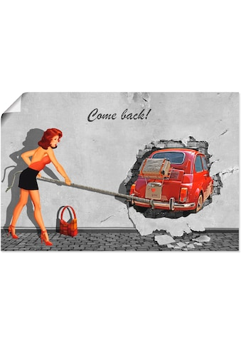 Artland Wandbild »Komm zurück«, Frau, (1 St.), in vielen Größen & Produktarten -... kaufen