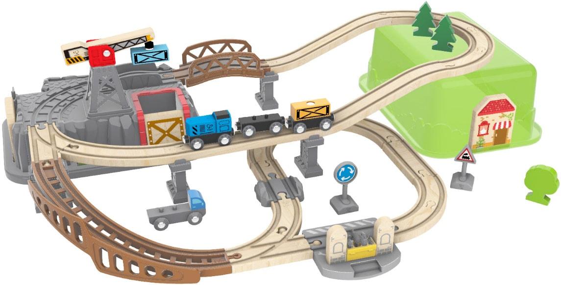 Hape Spielzeug-Eisenbahn Eisenbahn-Baukasten bunt Kinder Ab 3-5 Jahren Altersempfehlung