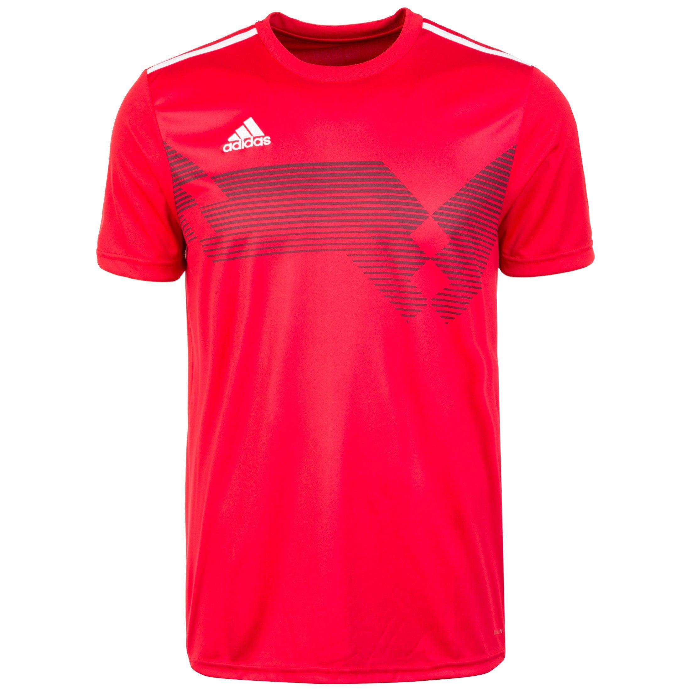 adidas Performance Fußballtrikot Campeon 19 | Sportbekleidung > Trikots > Fußballtrikots | Rot | Trikot - Jersey - Interlock | Adidas Performance