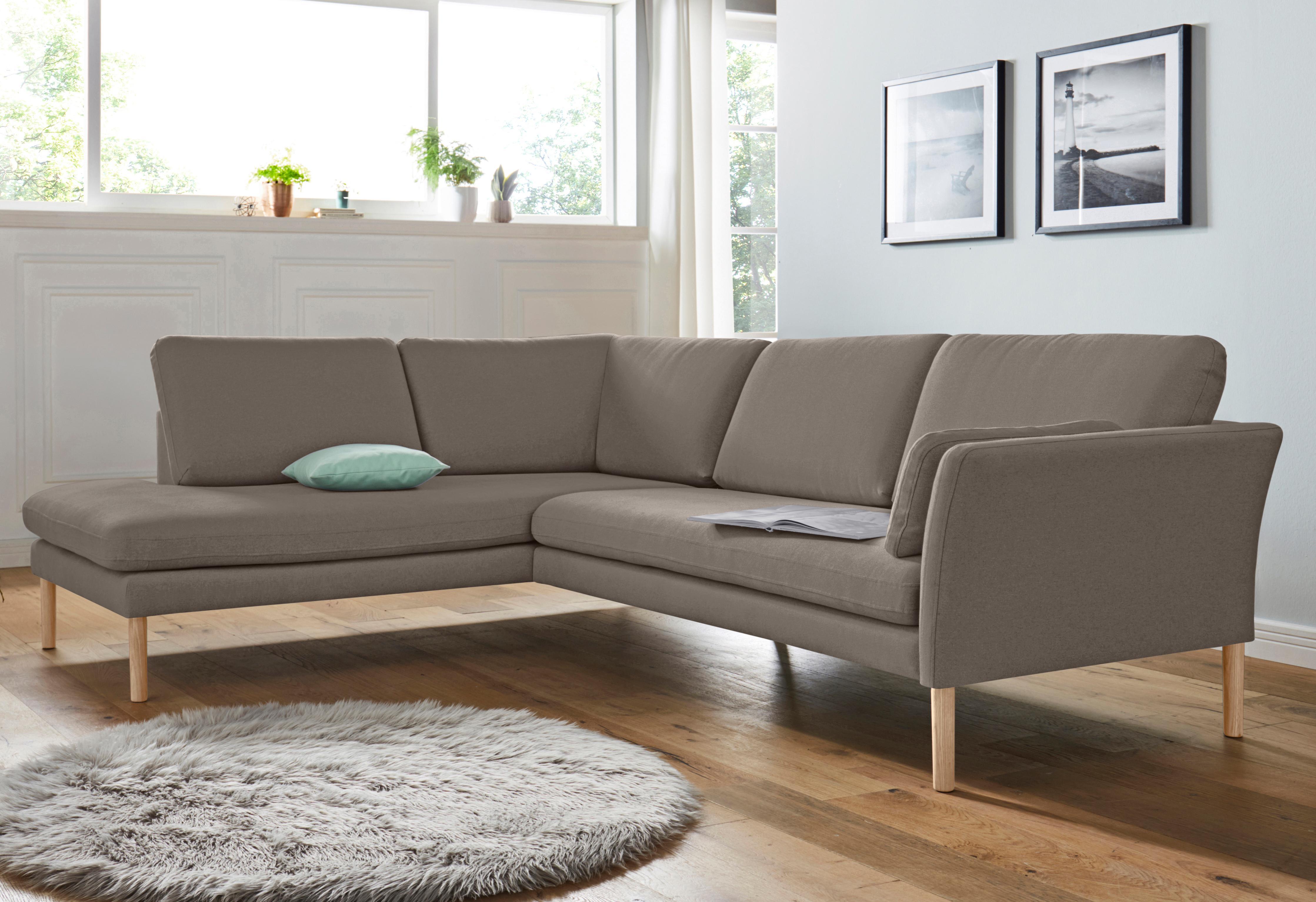 andas Ecksofa mit Ottomanenabschluss Helsingborg im skandinavischem Design in 2 Bezugsqualitäten