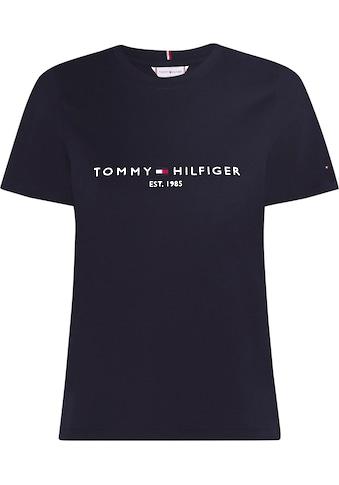 Tommy Hilfiger Curve Rundhalsshirt »CRV TH ESS HILFIGER C-NK TEE SS«, mit Tommy... kaufen