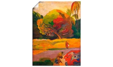 Artland Wandbild »Paul Gauguin Frauen am Fluß«, Wiesen & Bäume, (1 St.), in vielen... kaufen