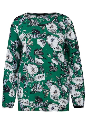FRAPP Feminine Bluse mit Allover-Print Plus Size kaufen