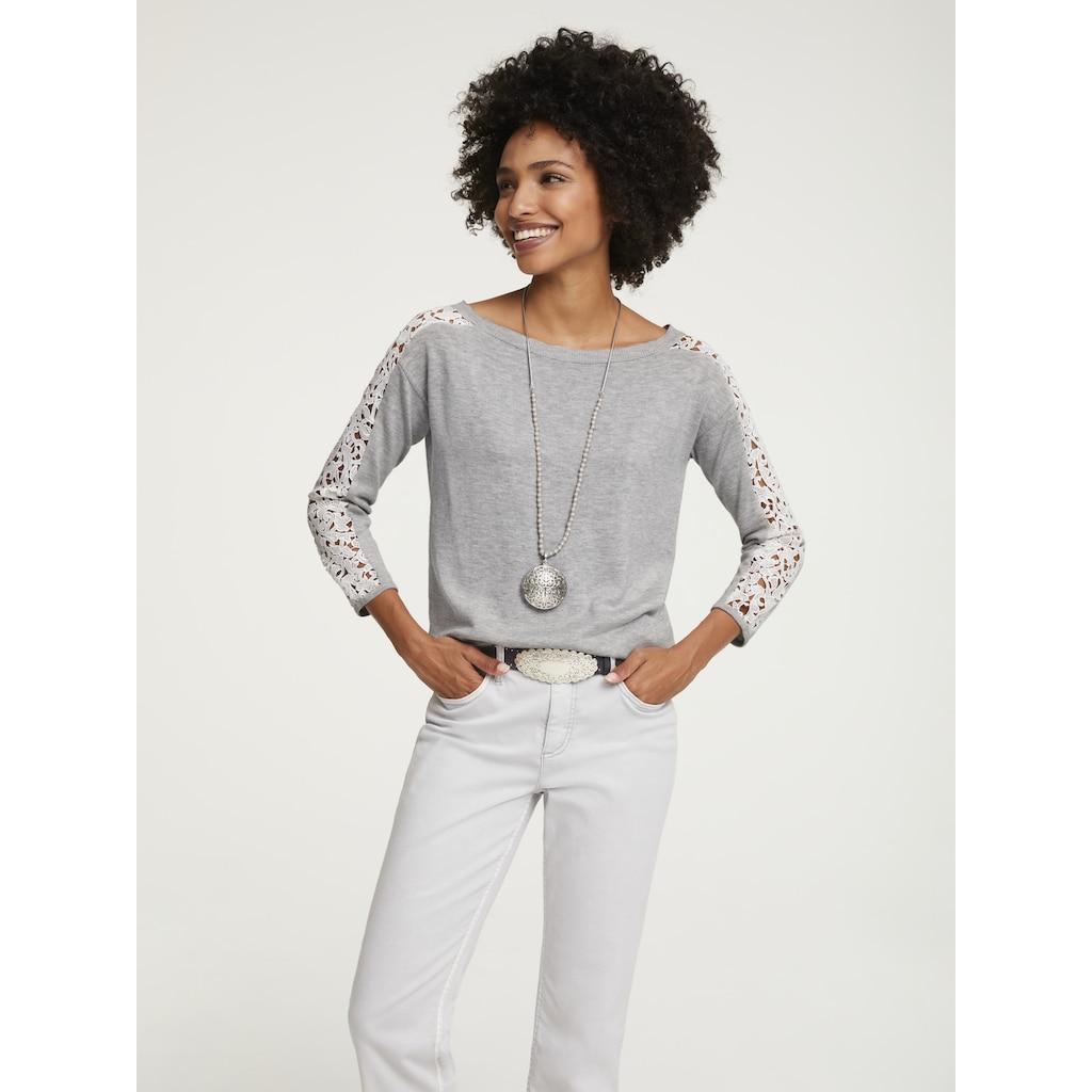 LINEA TESINI by Heine 3/4 Arm-Pullover, mit Spitze
