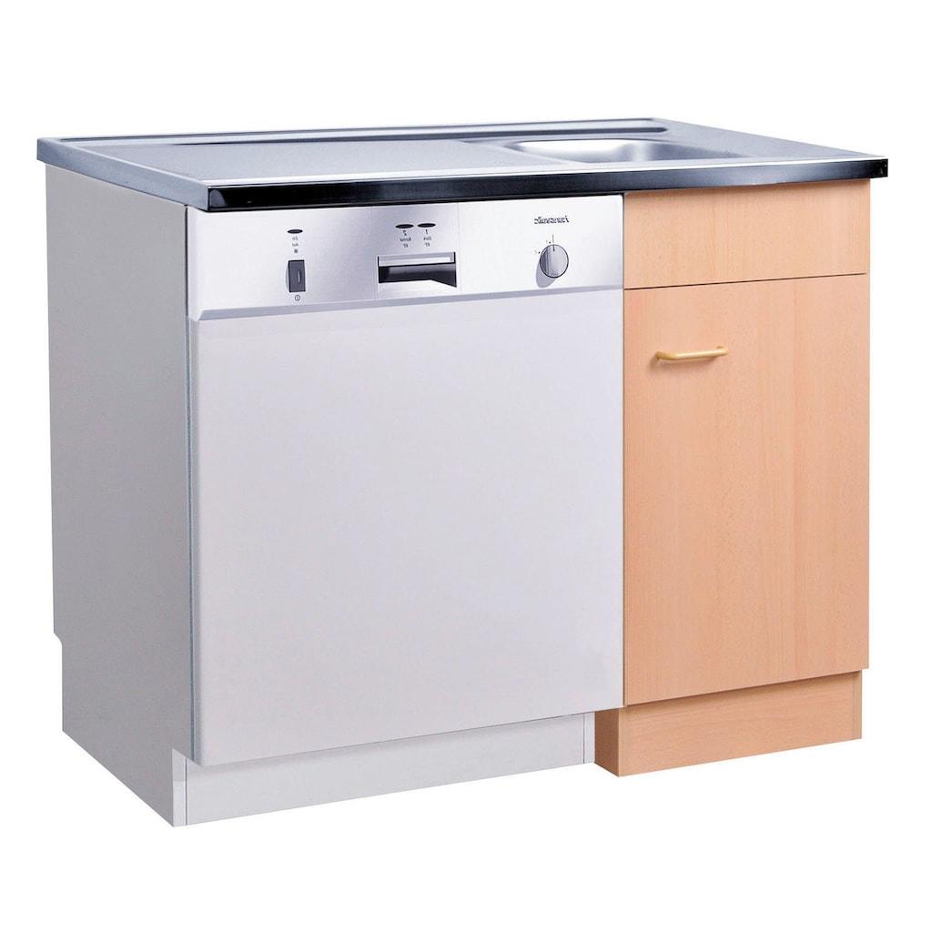 HELD MÖBEL Spülenschrank »Elster«, Spülzentrum für Unterbau-Geschirrspüler, ohne Front B/H/T: ca. 100/60/85 cm