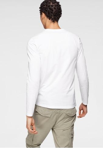 Bruno Banani Langarmshirt, mit Markenbrustprint kaufen