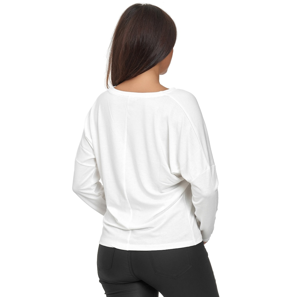 Decay Langarmshirt, mit trendiger Strass-Applikation