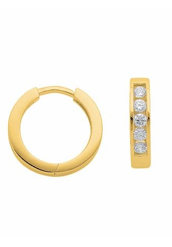 Adelia´s Paar Creolen »925 Silber Ohrringe / Creolen mit Zirkonia Ø 14,1 mm«,... kaufen
