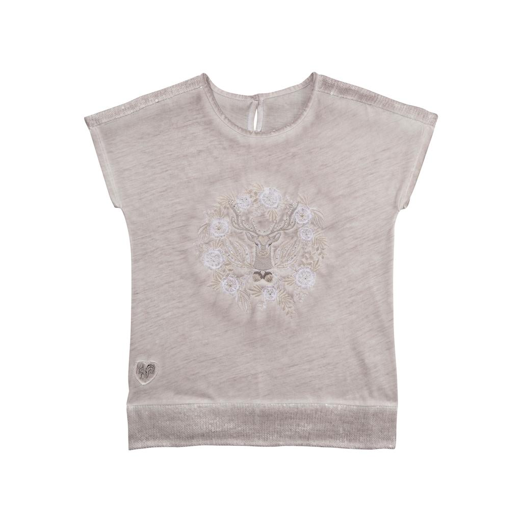 MarJo Trachtenshirt, im Used-Look mit Stickerei