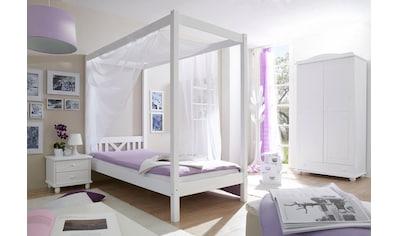 Ticaa Einzel   /Himmelbett, Kiefer »LaLuna« Kaufen