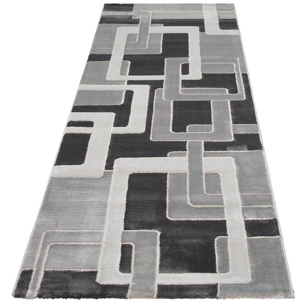 Home affaire Läufer »Anesa«, rechteckig, 12 mm Höhe, mit handgearbeitetem Konturenschnitt