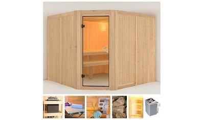 KONIFERA Sauna »Evka«, 231x231x198 cm, 9 kW Ofen mit int. Steuerung kaufen