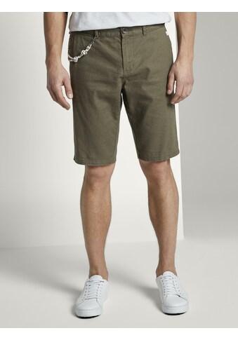TOM TAILOR Shorts »Chino-Shorts mit Kordelanhänger« kaufen