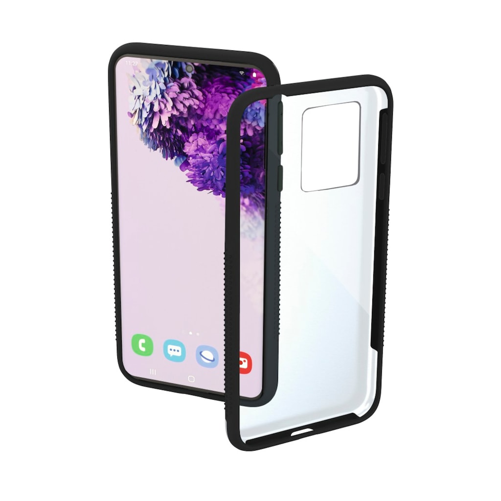 "Hama Backcover »Smartphone-Cover ""Frame""«, Galaxy S20+, für Samsung Galaxy S20+, Transparent/Schwarz"