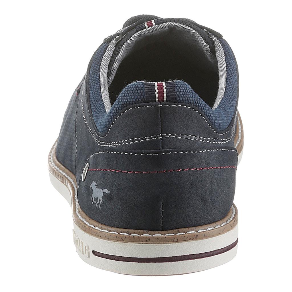Mustang Shoes Schnürschuh, mit gepolstertem Schaftrand