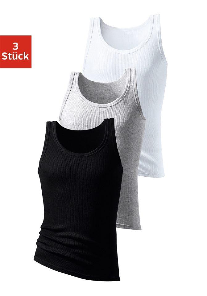 HIS Unterhemd (3 Stück)   Bekleidung > Wäsche > Unterhemden   Grau   Baumwolle   H.I.S