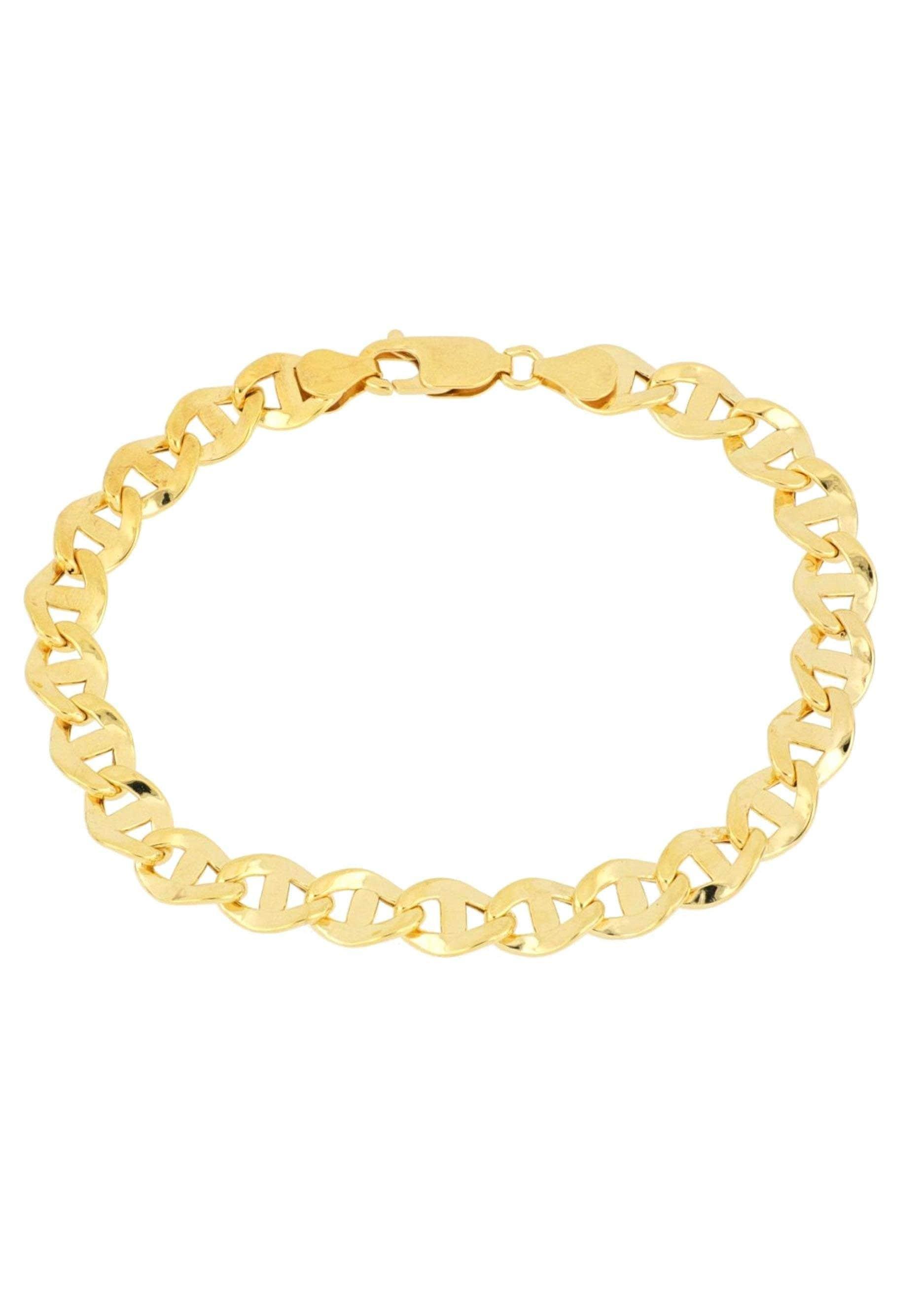 Firetti Goldarmband Stegpanzerkettengliederung, 7,1 mm breit, glanz, Glieder leicht gedreht | Schmuck > Armbänder | Firetti