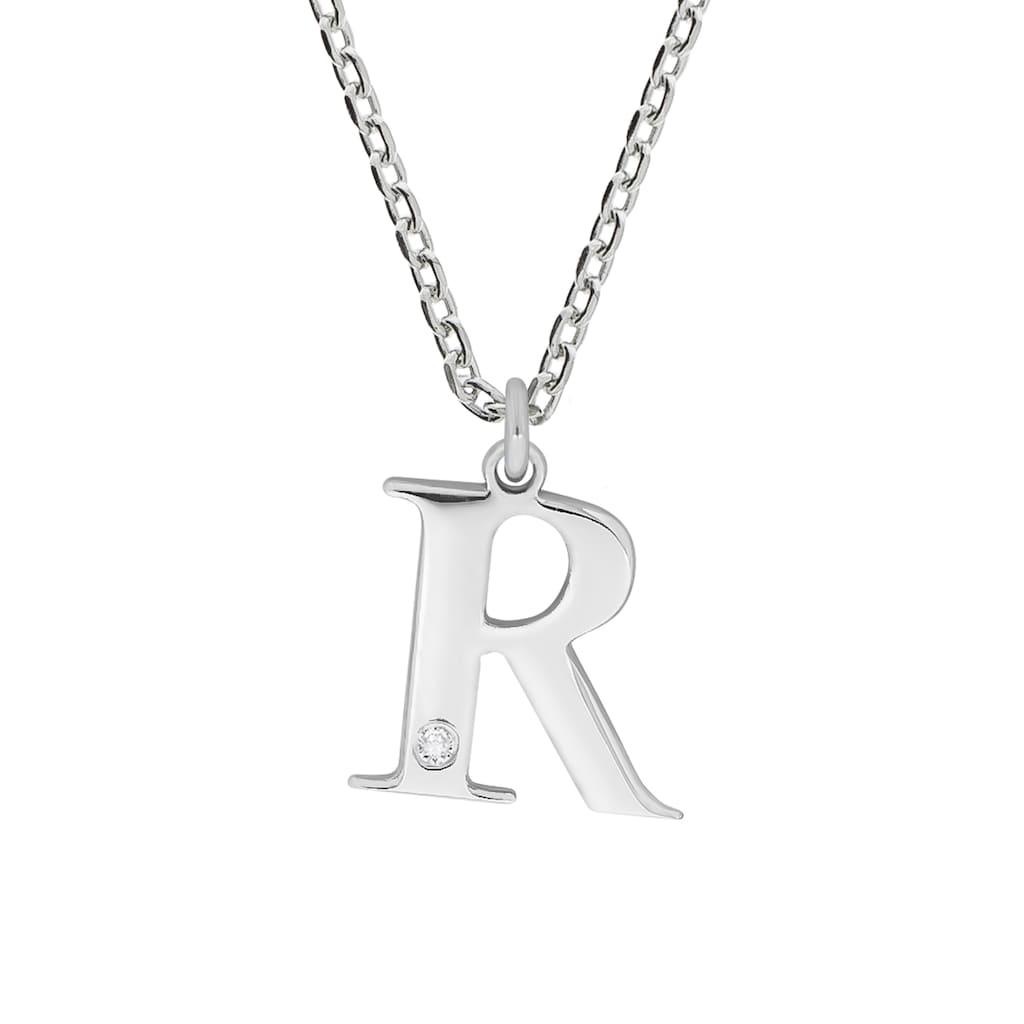 Diamonds by Ellen K. Kette mit Anhänger »925/- Sterling Silber Diamant 0,008ct. Buchstabe R«