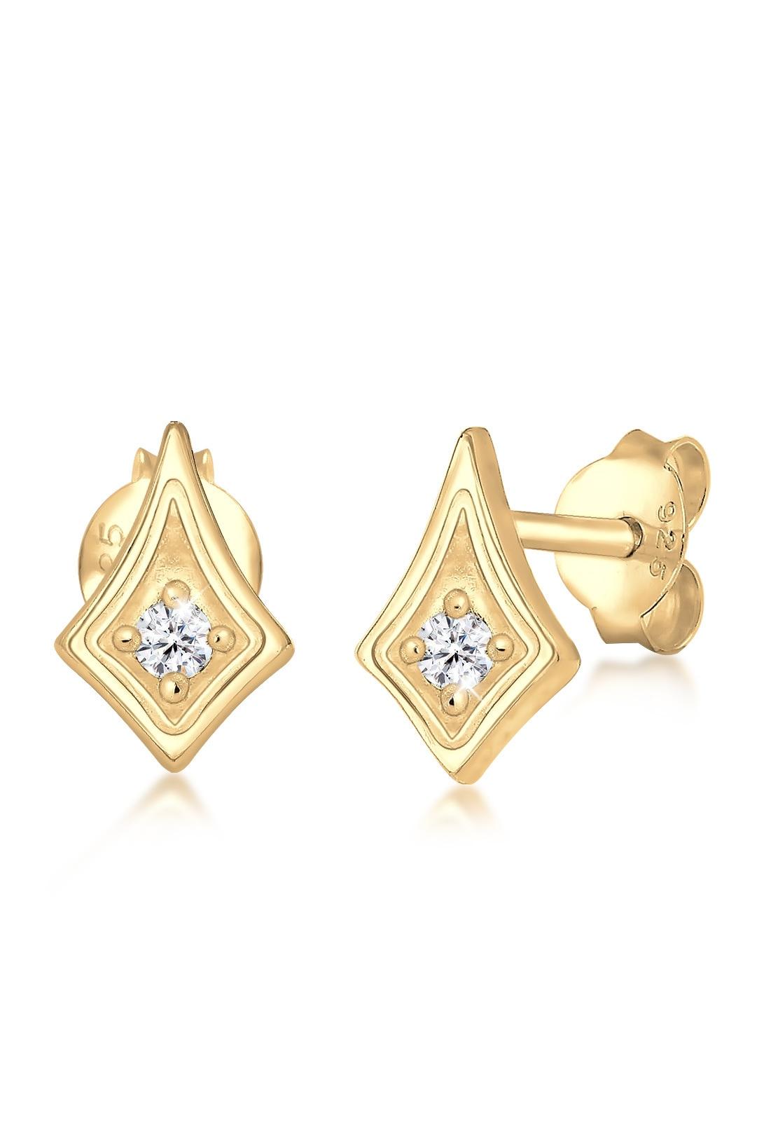 Elli Paar Ohrstecker Studs Astro Swarovski Kristalle Trend 925 Silber | Schmuck > Ohrschmuck & Ohrringe > Ohrstecker | Goldfarben | Elli