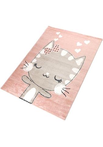 Kinderteppich, »Meow«, Living Line, rechteckig, Höhe 12 mm, maschinell gewebt kaufen