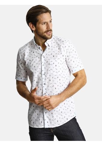 SHIRTMASTER Kurzarmhemd »lifeonbeaches«, Ärmelaufschläge in Kontrast kaufen