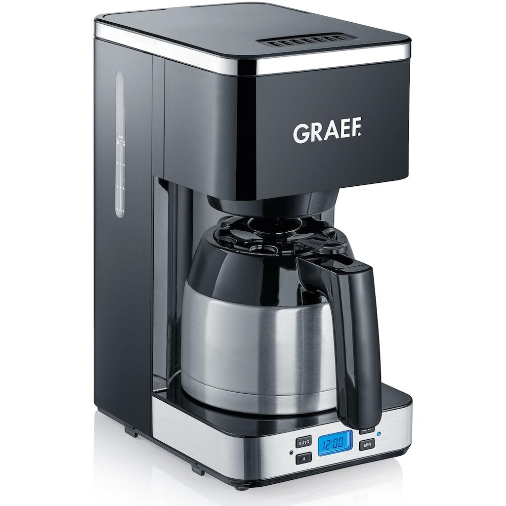 Graef Filterkaffeemaschine »FK 512«, Korbfilter, 1x4, mit Timer und Thermokanne