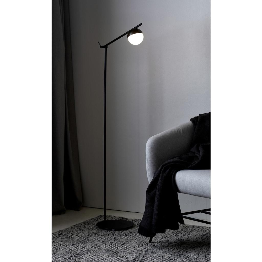 Nordlux Stehlampe »CONTINA«, G9, Textil Kabel, mundgeblasenes Opal Glas