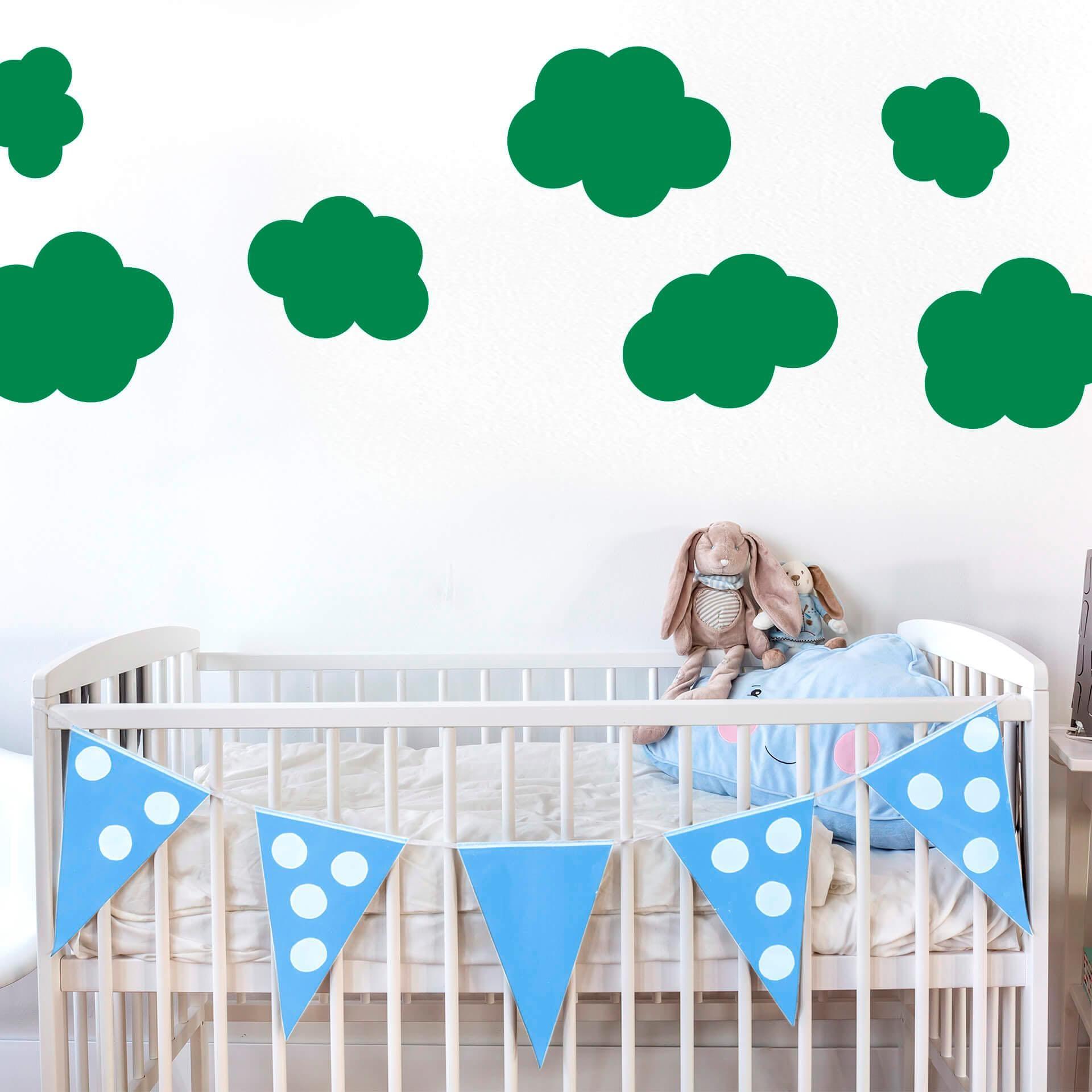 Wandtattoo Wolken-Set Wohnen/Accessoires & Leuchten/Wohnaccessoires/Wandtattoos und Wandsticker/Wandtattoos Kinder