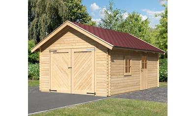 KARIBU Garage »Christian«, BxT: 435x572 cm, Einfahrtshöhe: 193 cm, mit Dachschindeln kaufen