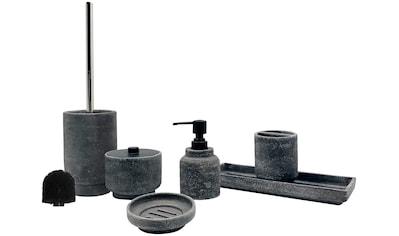 welltime Badaccessoires-Sets »Beton«, Set: 6 tlg., inkl. Ersatzbürstenkopf für WC-Bürste kaufen