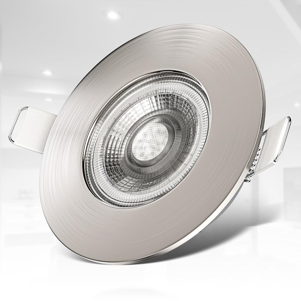 B.K.Licht LED Einbauleuchte, LED-Board, Warmweiß, LED Einbaustrahler Bad Spots Lampe ultraflach Deckenspots IP44