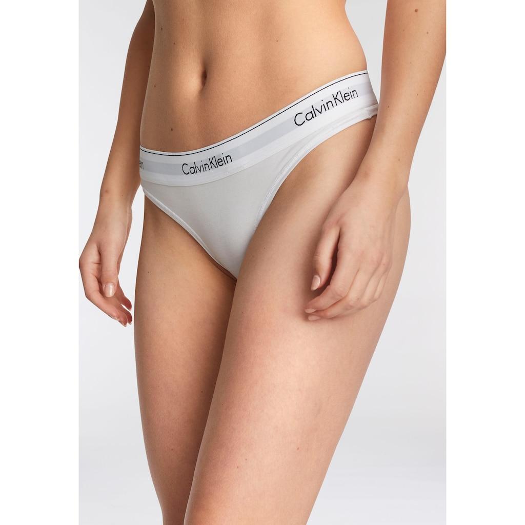 Calvin Klein String »MODERN COTTON«, mit breitem Bündchen