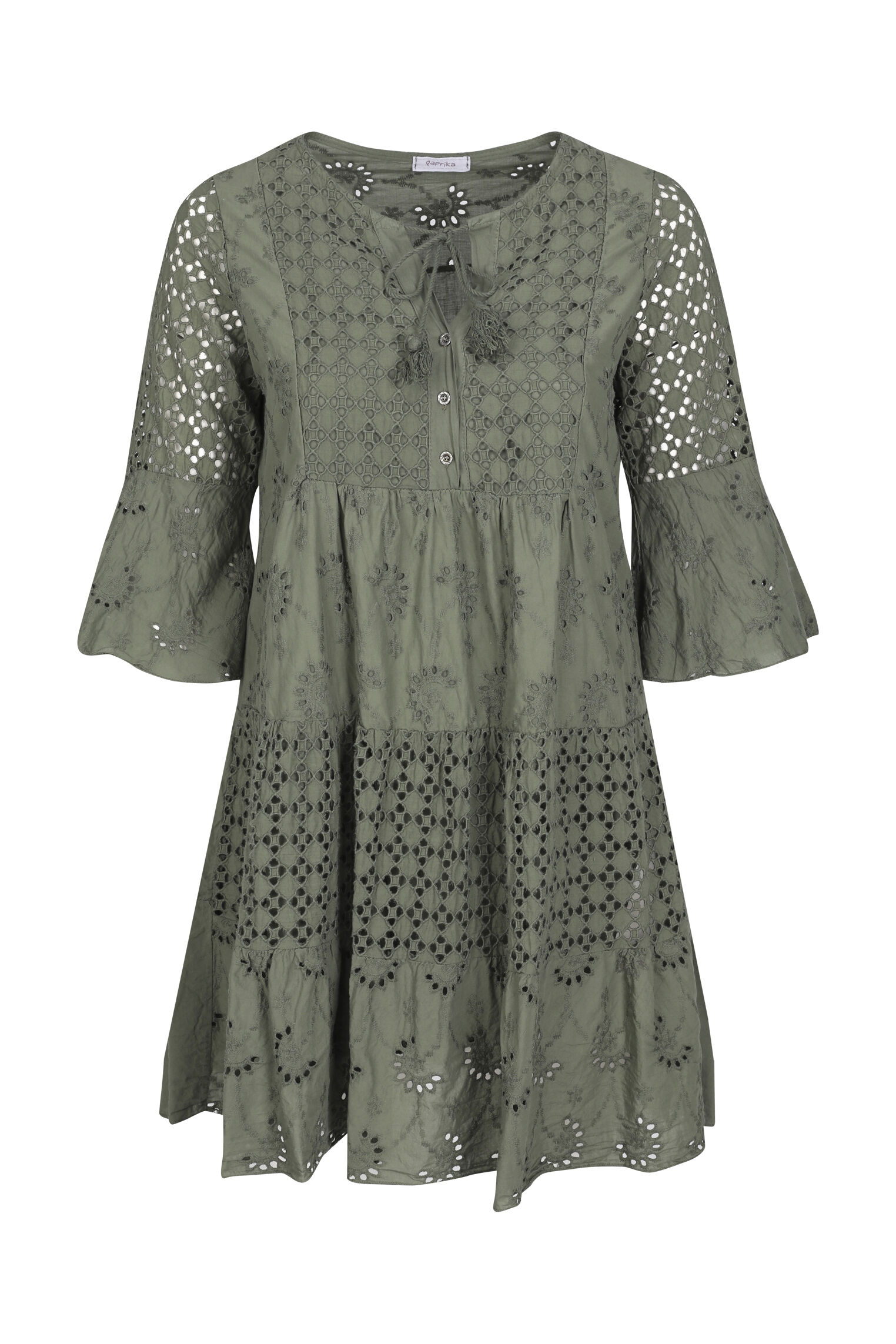 paprika -  Blusenkleid Rundhals geblümt, bequem zu tragen