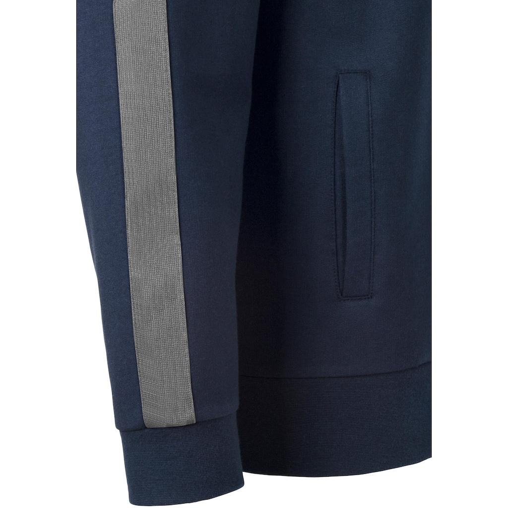 H.I.S Sweatjacke, mit Streifenband an Schulter und Ärmel